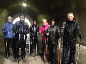 Wet but still smiling , first Nordic walk of 2014 January 4th!