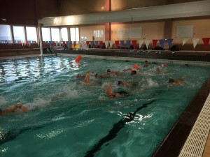Mass start practice,getting ready for the open water season!